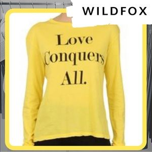 🐰 NWOT WILDFOX Love Conquers All Long Sleeve Tee